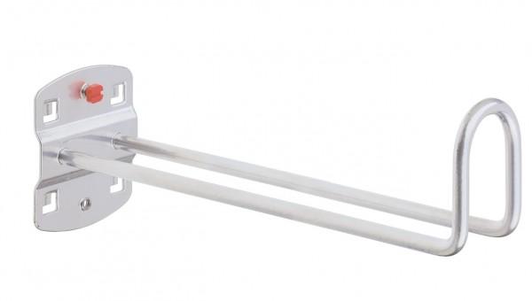 ®RasterPlan Kabelhalter Länge 200 mm / Höhe Hakenende 50 mm Alufarben