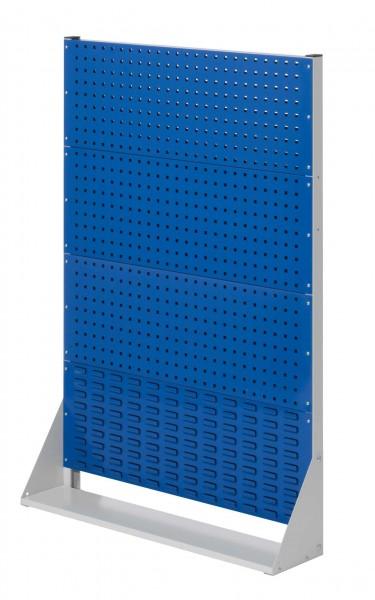 RasterPlan Stellwand Gr.4 einseitig, H1450 x B1000 x T240 mm, RAL 7035/5010. 3 Lochplatten, 1 Schlitzplatten.