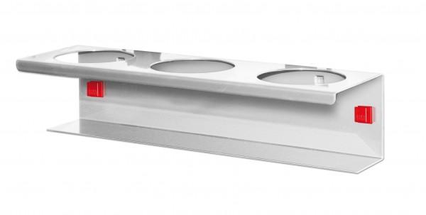 RasterPlan/ABAX Runddosenhalter 3-fach, alufarben.