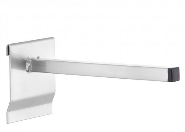 RasterPlan Universalhalter vierkant, 200 mm, alufarben.
