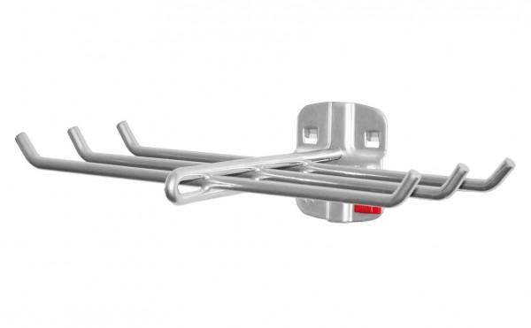 ®RasterPlan/ABAX® Werkzeughalter 6-fach Länge 140 mm x Breite 240 mm Alufarben
