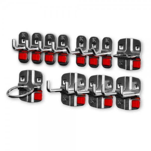 RasterPlan/ABAX Werkzeughalter-Sortiment, 12-teilig anthrazitgrau.