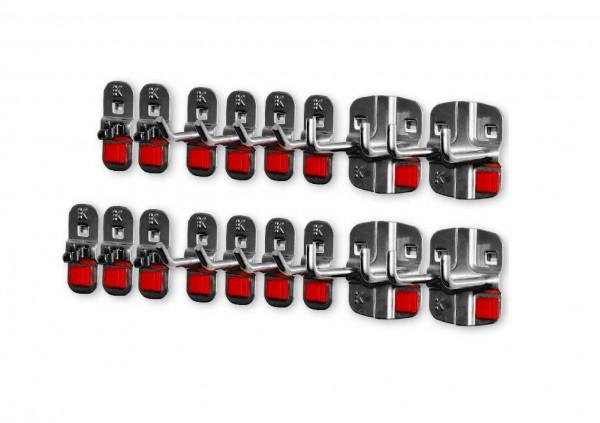 RasterPlan/ABAX Werkzeughalter-Sortiment, 17-teilig anthrazitgrau.