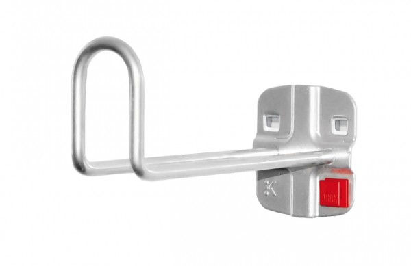 RasterPlan/ABAX Kabelhalter alufarben, L 150 mm.