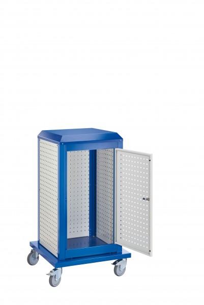 RasterPlan Tool Tower klein Mod 5, mobil, RAL 7035/5010. 3 LP außen klein, 1 LP Tür.