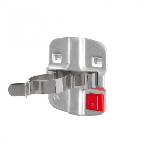 ®RasterPlan/ABAX® Werkzeugklemme, einfach, große Grundplatte Durchmesser 25 mm Alufarben