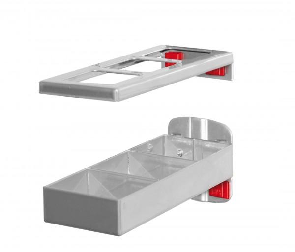 RasterPlan/ABAX Kombinationshalter alufarben, 2-teilig L 150 x B 55 mm.
