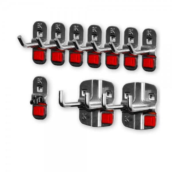 RasterPlan/ABAX Werkzeughalter-Sortiment, 10-teilig anthrazitfarben.