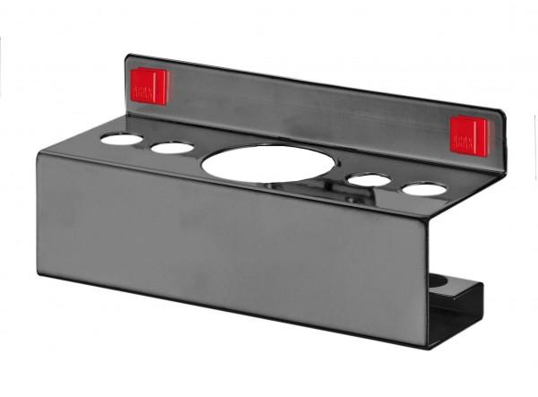 ®RasterPlan/ABAX® Kombihalter für Stifte / Sprühflasche 4 x Durchmesser 17 mm / 1 x Durchmesser 52 mm Anthrazitgrau