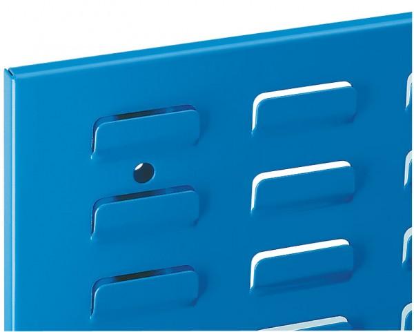 ®RasterPlan Schlitzplatte B 500 mm x H 450 mm Breitformat RAL 5015 - Himmelblau Universell kombinier- und einsetzbar. Kompatibel mit ®RasterPlan Lochplatten.