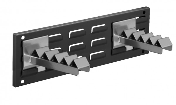 RasterPlan Wandschiene Schlitzplatte Set 6, L 460 mm, x H 140 mm, RAL 7016. 2 x Wellenträger.