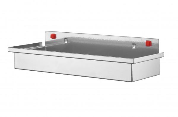 ®RasterPlan/ABAX® Ablagebox, groß Breite 340 mm x Tiefe 135 mm x Höhe 55 mm Alufarben