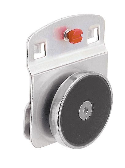 RasterPlan Magnethalter 40 mm D., alufarben.