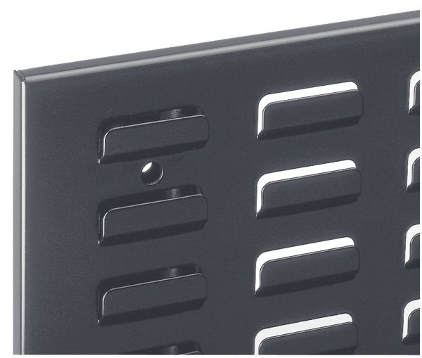 ®RasterPlan Schlitzplatte B 500 mm x H 450 mm Breitformat RAL 7016 - Anthrazitgrau Universell kombinier- und einsetzbar. Kompatibel mit ®RasterPlan Lochplatten.