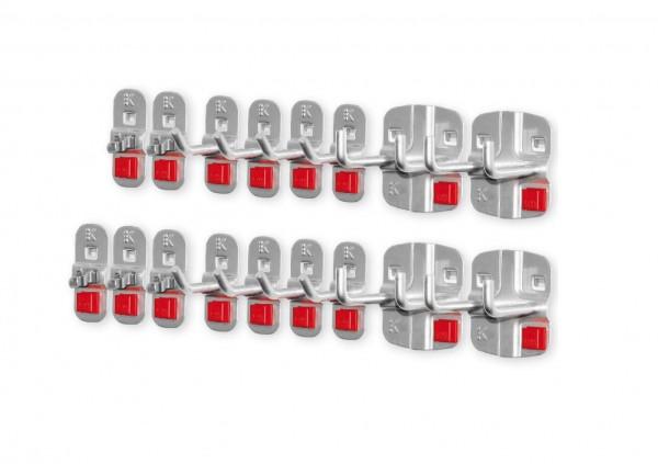RasterPlan/ABAX Werkzeughalter-Sortiment, 17-teilig alufarben.