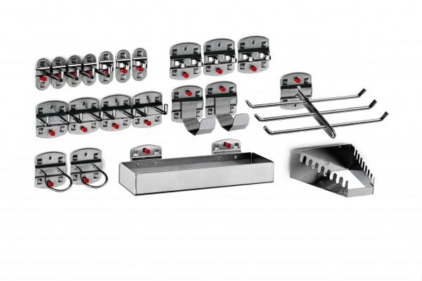 RasterPlan Werkzeughalter-Sortiment, 21-teilig anthrazitgrau.
