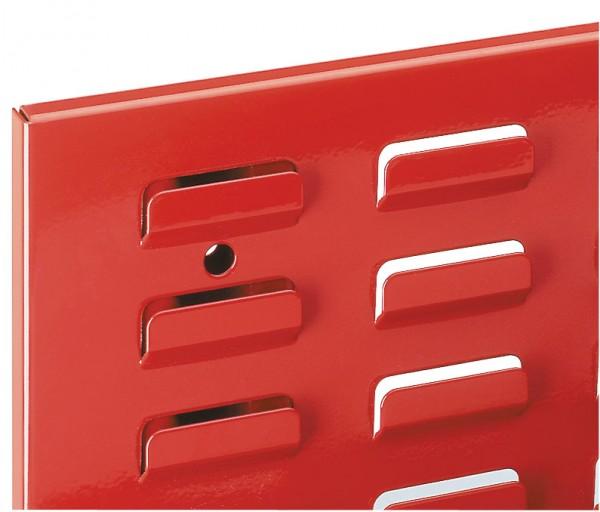 ®RasterPlan Schlitzplatte B 450 mm x H 2000 mm Hochformat RAL 3020 - Verkehrsrot Universell kombinier- und einsetzbar. Kompatibel mit ®RasterPlan Lochplatten.