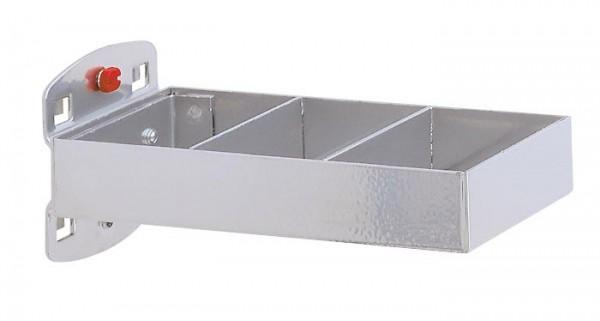 RasterPlan Kombinationshalter alufarben, 2-teilig L 150 x B 55 mm,.