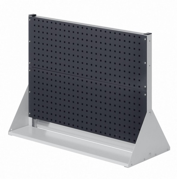 RasterPlan Stellwand Gr.2 doppelseitig, H760 x B1000 x T430 mm, RAL 7035/7016. 4 Lochplatten.