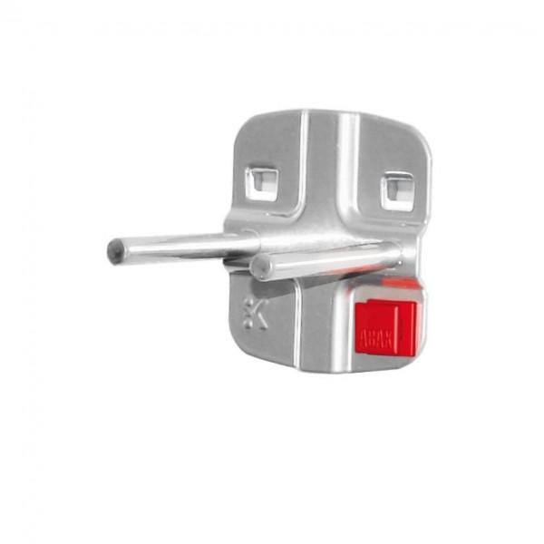 RasterPlan/ABAX Doppelter Werkzeughalter mit, geradem Dorn L 50 mm, alufarben.