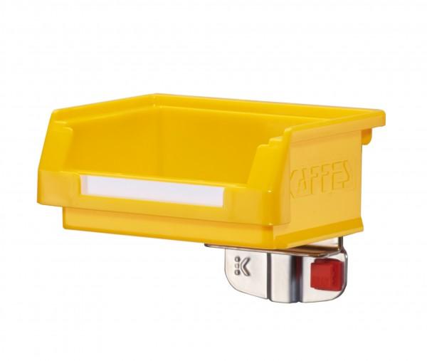 ®RasterPlan/ABAX® Lagersichtkastenhalter 1-fach Für 1 Kasten der Kastengrößen 7 und 8 Alufarben