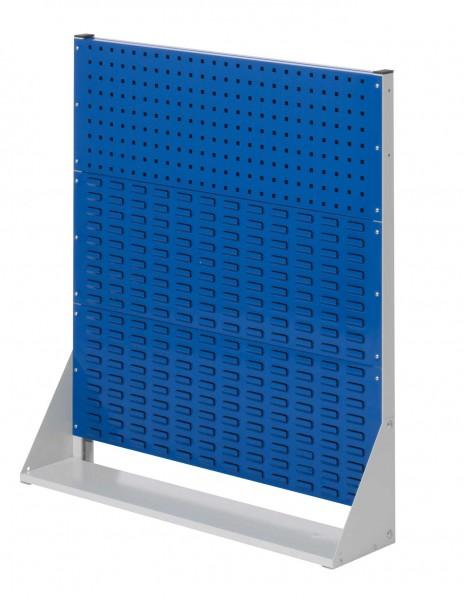 ®RasterPlan Stellwand Gr.3 einseitig, H1100 x B1000 x T240 mm, RAL7035/5010. 1 Lochplatten, 2 Schlitzplatten.