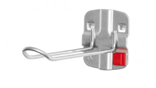 RasterPlan/ABAX Werkzeughalter für SB-Ver-, packungen alufarben L125 x B 30 mm,.