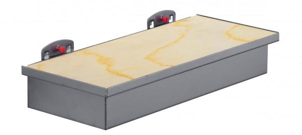 RasterPlan Werkzeugaufnahmebox anthrazitgrau, mit Holzplatte.