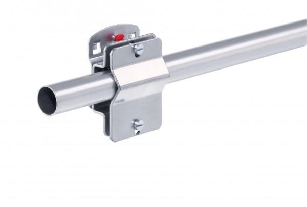 RasterPlan Klemmschellenhalter für, Rundrohr ab D 19 mm, alufarben. Klemmbreite 55 mm.