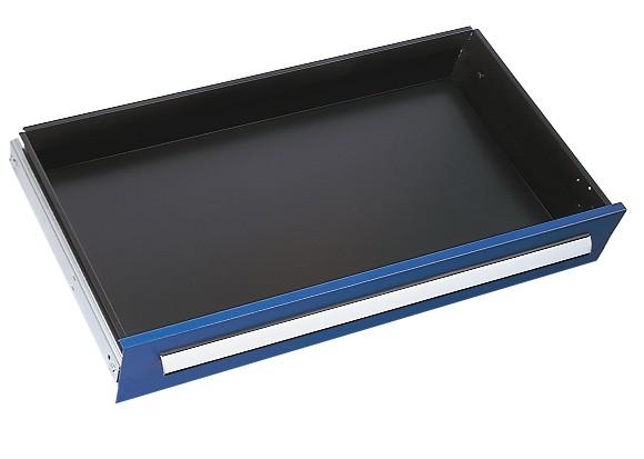 Schublade RAL 5010 H125 mm, Breite 1000 mm,Vollauszug.