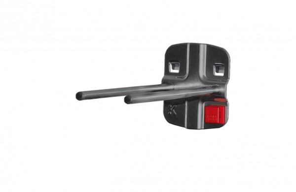 ®RasterPlan/ABAX® Doppelter Werkzeughalter, gerader Dorn Länge 100 mm Anthrazitgrau
