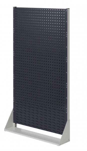 ®RasterPlan Stellwand Gr.5 einseitig, H1790 x B1000 x T240 mm, RAL 7035/7016. 4 Lochplatten, 1 Schlitzplatten.