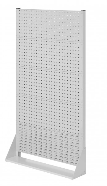 RasterPlan Stellwand Gr.5 einseitig, H1790 x B1000 x T240 mm, RAL 7035. 4 Lochplatten, 1 Schlitzplatten.