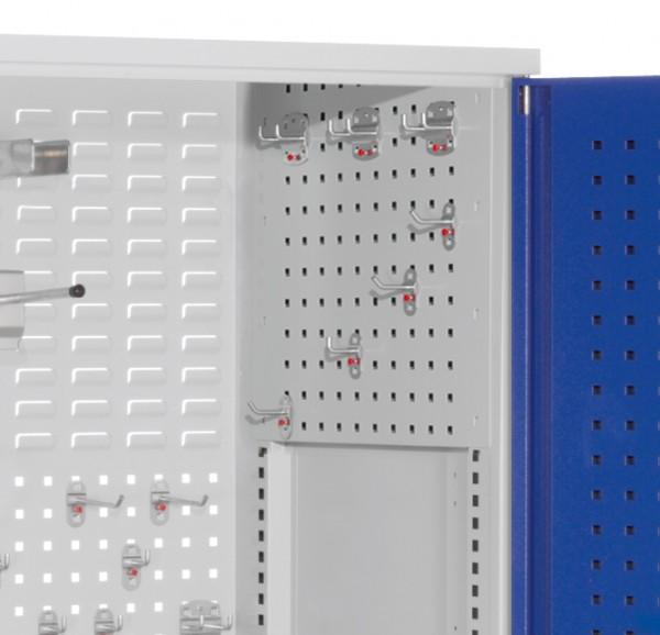 ®RasterPlan Seitenwandverkleidung rechte Seite, Systemlochung B497 x H 455mm, RAL 7035.