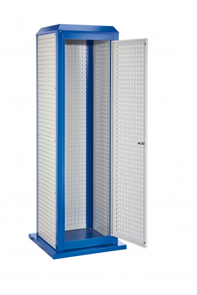 RasterPlan Tool Tower groß Mod 2, stationär, RAL 7035/5010. 3LP außen, 1 LP Tür.
