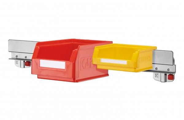 RasterPlan/ABAX Lagersichtkastenhalter, für Kastengröße 7 u 8 alufarben.