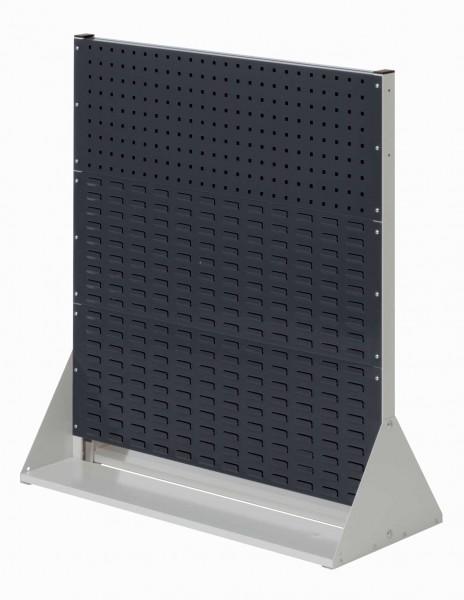 RasterPlan Stellwand Gr. 3 doppelseitig, H1100 x B1000 x T430 mm, RAL 7035/7016. 2 Lochplatten, 4 Schlitzplatten.