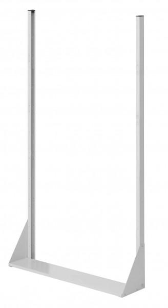 RasterPlan Stellwand Standmodul Gr. 5, H1790 x B1000 x T240 mm, RAL 7035. Einseitig, ohne Platten.