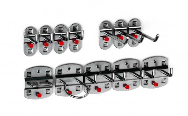 RasterPlan Werkzeughalter-Sortiment, 12-teilig anthrazitgrau.