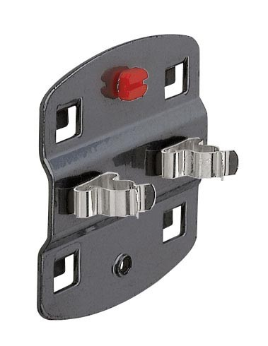 ®RasterPlan Werkzeugklemme, einfach, große Grundplatte Durchmesser 25 mm Anthrazitgrau