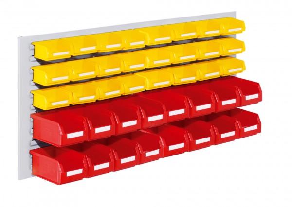 RasterPlan Schlitzplatten Einsteigerset 12, RAL 7035. 1 x Schlitzplatte H 450 x B 1000 mm,16 x Lsk. Gr. 7, 24 x Lsk. Gr. 8.