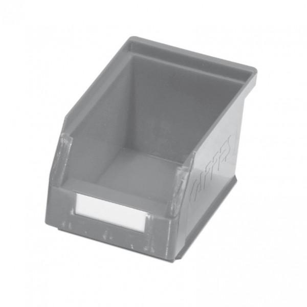 ®RasterPlan Lagersichtkasten Größe Mit Aufhängeleiste für ®RasterPlan Schlitzplatten Grau L 230 mm x B 140 mm x H 130 mm