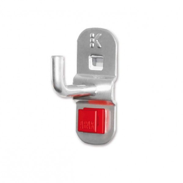 RasterPlan/ABAX Werkzeughalter alufarben, L 35 mm, senkrechtes Hakenende.