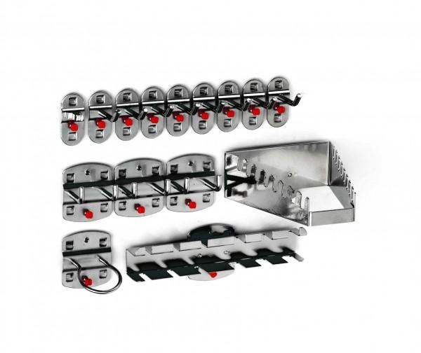 RasterPlan Werkzeughalter-Sortiment, 15-teilig anthrazitgrau.