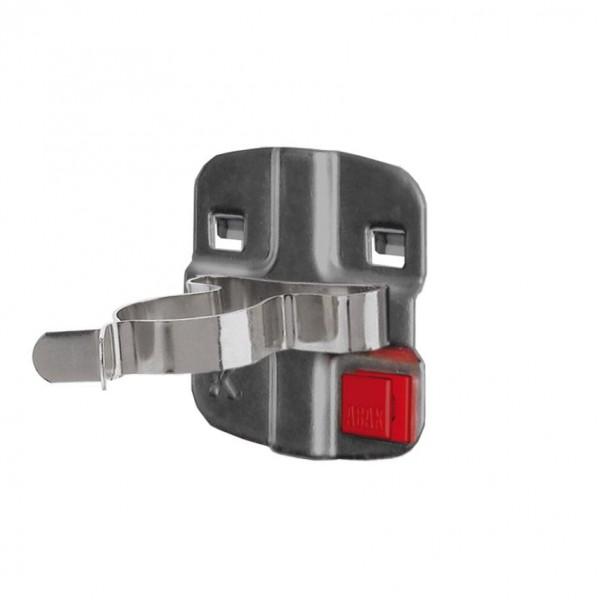RasterPlan/ABAX Werkzeugklemme D 25 mm, einfach grosse Grundplatte anthrazitgrau.