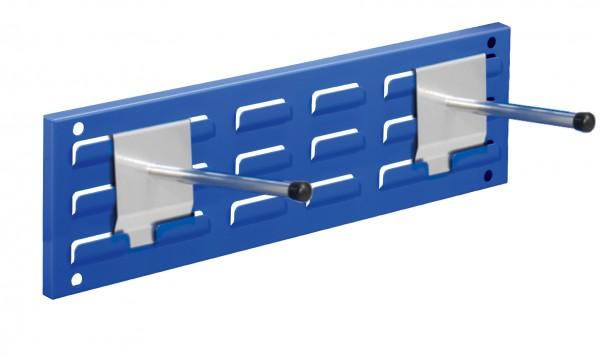 RasterPlan Wandschiene Schlitzplatte Set 3, L 460 mm, x H 140 mm, RAL 5010. 2 x Universalhalter.