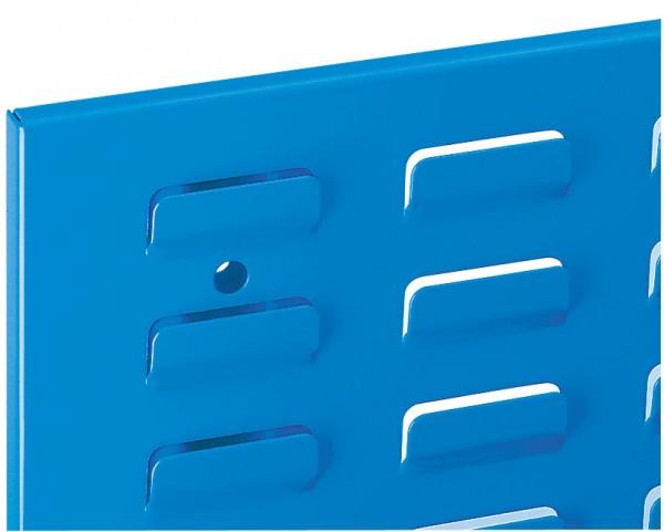 ®RasterPlan Schlitzplatte B 450 mm x H 500 mm Hochformat RAL 5012 - Lichtblau Universell kombinier- und einsetzbar. Kompatibel mit ®RasterPlan Lochplatten.