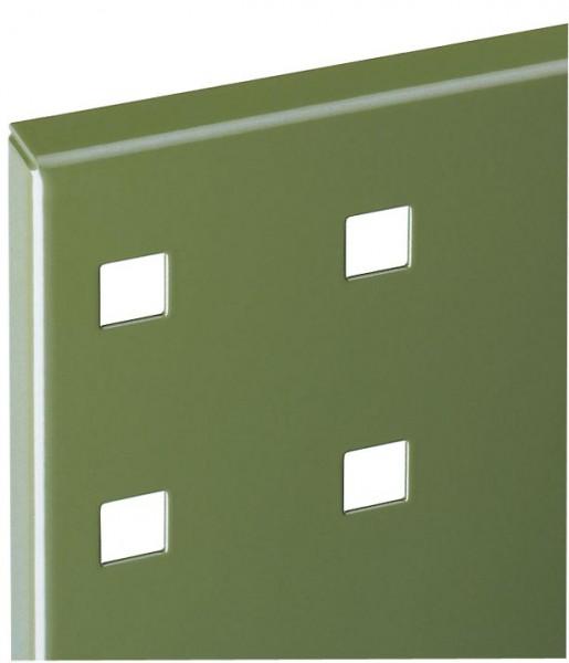 ®RasterPlan Lochplatte B 500 mm x H 450 mm RAL 6011 - Resedagrün Universell kombinier- und einsetzbar. Kompatibel mit ®RasterPlan Schlitzplatten.