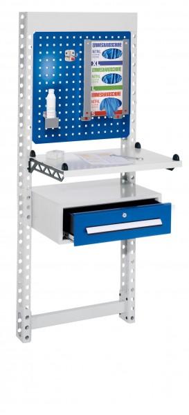 ErgoPlus Steharbeitsplatz Mod 4 RAL 7035 /5010 H1650 x B 670 mm
