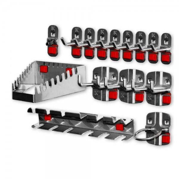 RasterPlan/ABAX Werkzeughalter-Sortiment, 15-teilig anthrazitgrau.